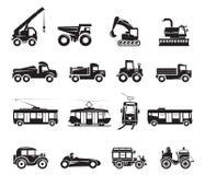 Icono de 16 transportes Fotos de archivo