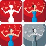 Icono de un cantante Imágenes de archivo libres de regalías