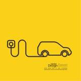 Icono de un coche híbrido stock de ilustración