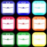 Icono de una cartera en los botones Imágenes de archivo libres de regalías