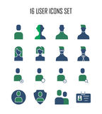Icono de 20 usuarios Imagen de archivo libre de regalías
