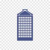 Icono de varios pisos del edificio público Fotografía de archivo