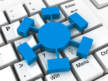 Icono de Webinar en el teclado Imágenes de archivo libres de regalías