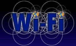 Icono de Wi-Fi del mundo Fotografía de archivo libre de regalías
