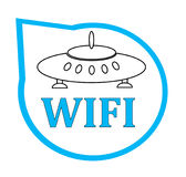 Icono de Wifi para el negocio o el uso comercial Foto de archivo libre de regalías