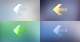 Icono dejado flecha 3d Fotografía de archivo