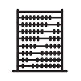 Icono del ábaco en el fondo blanco Diseño plano del estilo Fotografía de archivo libre de regalías