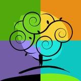 Icono del árbol Fotos de archivo libres de regalías