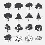Icono del árbol Fotografía de archivo libre de regalías
