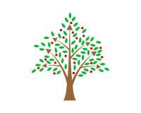 Icono del árbol Imagen de archivo libre de regalías