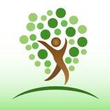 Icono del árbol de la gente Fotografía de archivo libre de regalías