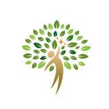 Icono del árbol de la gente Imagen de archivo libre de regalías