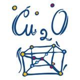 Icono del óxido de cobre, estilo exhausto de la mano ilustración del vector