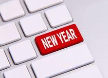 Icono del Año Nuevo en el teclado Fotografía de archivo libre de regalías