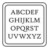 Icono del ABC de los niños, estilo del esquema Imágenes de archivo libres de regalías