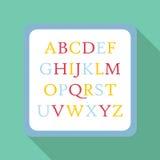 Icono del ABC de los niños, estilo plano Imágenes de archivo libres de regalías