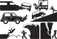Icono del accidente Imagen de archivo