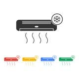 Icono del acondicionador de aire Fotografía de archivo libre de regalías