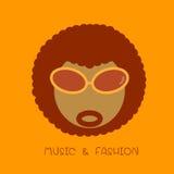 Icono del Afro Imagen de archivo libre de regalías