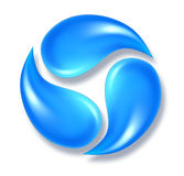 Icono del agua Imágenes de archivo libres de regalías