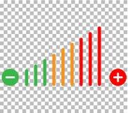 Icono del ajuste del volumen ajuste del volumen en backgro transparente stock de ilustración