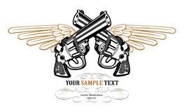 Icono del ala del revólver Imagen de archivo