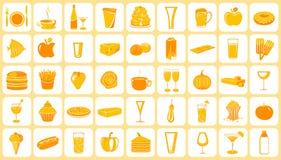 Icono del alimento Imagen de archivo libre de regalías