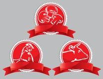 Icono del alimento en un fondo rojo Imágenes de archivo libres de regalías