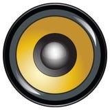 Icono del altavoz de la alta calidad o vector Illustr del botón Foto de archivo
