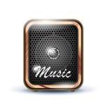 Icono del altavoz del amplificador Fotografía de archivo libre de regalías