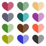 Icono del amor del símbolo de papel ilustración del vector