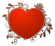 Icono del amor floral Fotos de archivo