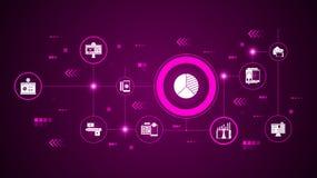 icono del análisis competitivo Del márketing de Digitaces, sistema de la promoción libre illustration
