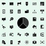 icono del análisis competitivo Sistema universal de los iconos del márketing de Digitaces para el web y el móvil ilustración del vector