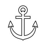 Icono del ancla Diseño de la forma de vida del mar Gráfico de vector libre illustration