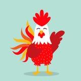 Icono del año del gallo Foto de archivo libre de regalías