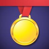 Icono del app de la clave de sol del oro de la medalla Imagen de archivo