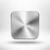 Icono del app de la tecnología con la textura del metal para el ui Foto de archivo