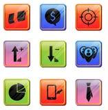 Icono del App del negocio Fotografía de archivo libre de regalías