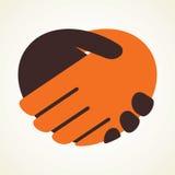 Icono del apretón de manos Fotografía de archivo libre de regalías
