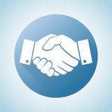 Icono del apretón de manos Concepto del negocio y de las finanzas Imagen de archivo libre de regalías