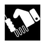 Icono del apretón de manos Elemento del diseño web Fotografía de archivo