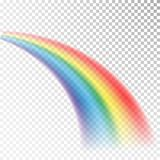 Icono del arco iris Luz colorida y elemento brillante del diseño para decorativo Imagen abstracta del arco iris Ejemplo del vecto ilustración del vector