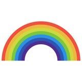 Icono del arco iris plano stock de ilustración