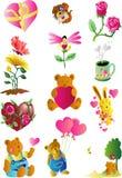 Icono del arte de clip de la tarjeta del día de San Valentín Imagen de archivo libre de regalías