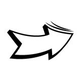 icono del arte pop de la flecha ilustración del vector