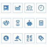 Icono del asunto y de las finanzas Imagen de archivo
