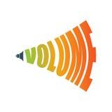 Icono del audio de la muestra de la música del volumen Símbolo para el nivel de sonido Fotografía de archivo