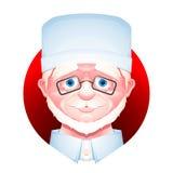 Icono del avatar del trabajador médico Fotografía de archivo