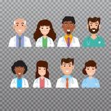Icono del avatar del doctor, iconos del personal médico Ilustración del vector ilustración del vector